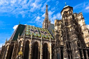 St. Stephan cathedral in center of Vienna, Austria